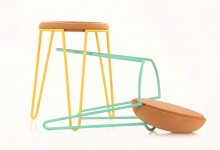 Sputnik stool & table